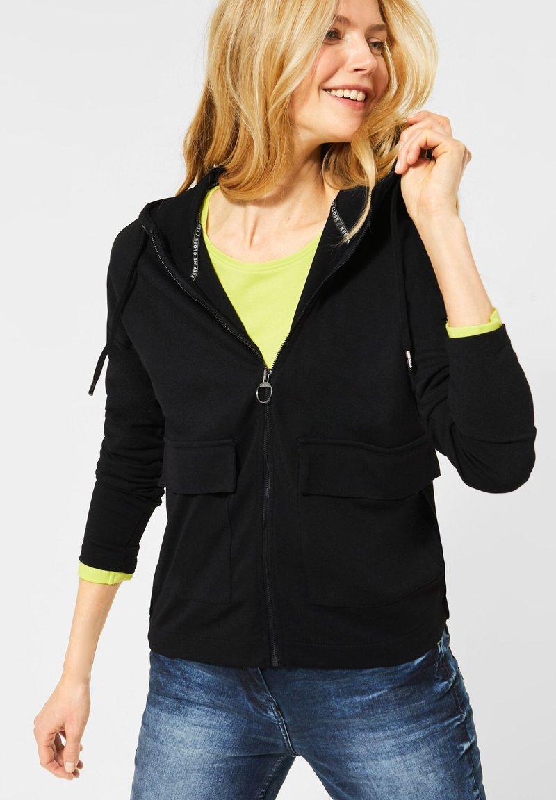 Cecil - MIT TASCHEN - Zip-up hoodie - schwarz