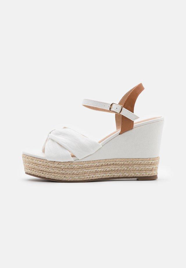 Sandales à plateforme - white