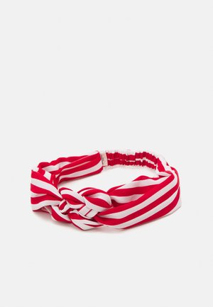 STRIPED HAIRBAND - Hair styling accessory - fiery red