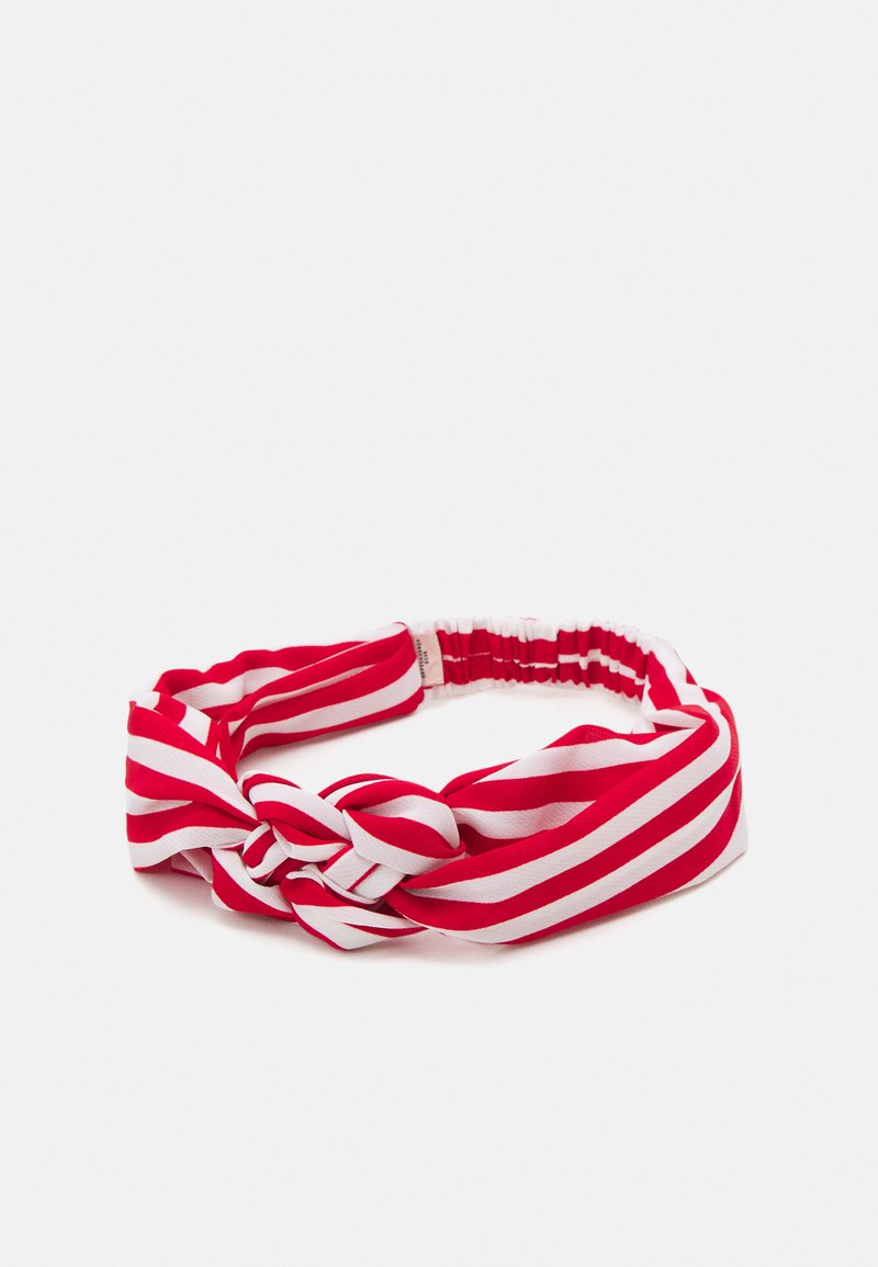 Becksöndergaard - STRIPED HAIRBAND - Hair Styling Accessory - fiery red