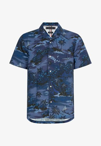 HAWAIIAN PRINT  - Shirt - tonal blues