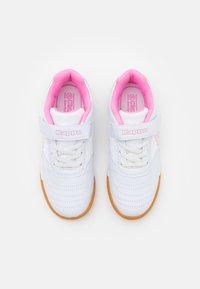 Kappa - DAMBA UNISEX - Sports shoes - white/rosé - 3