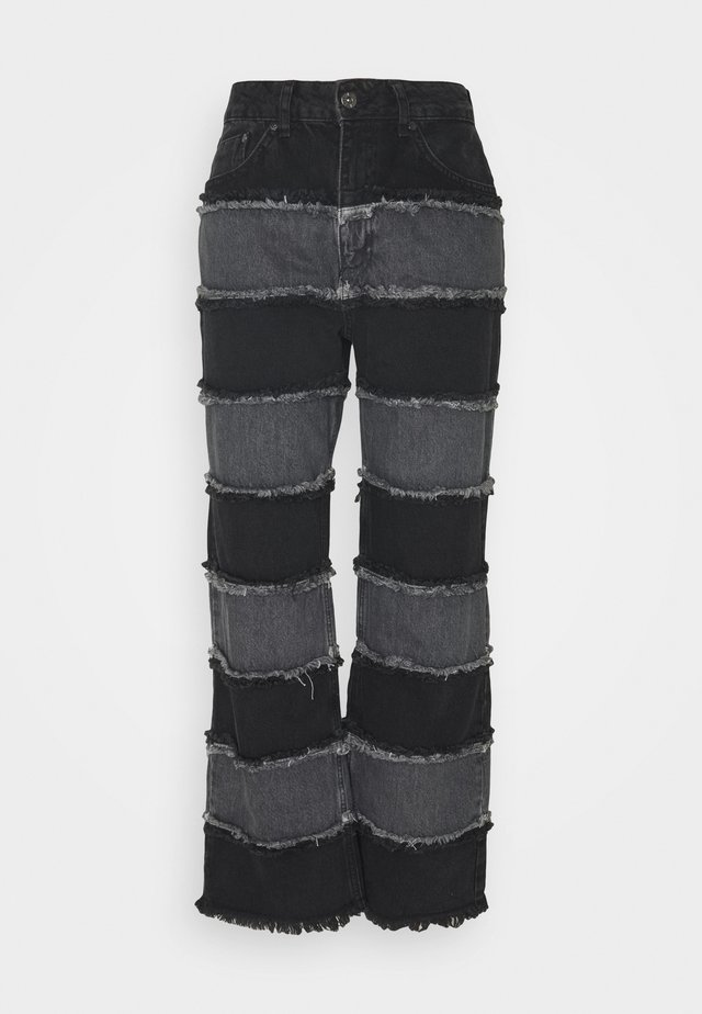 STRIPE PANEL SEAM - Jeans a sigaretta - charcoal/grey