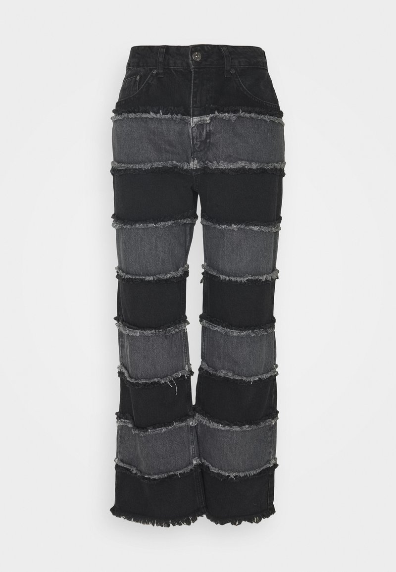 The Ragged Priest - STRIPE PANEL SEAM - Jeansy Straight Leg - charcoal/grey