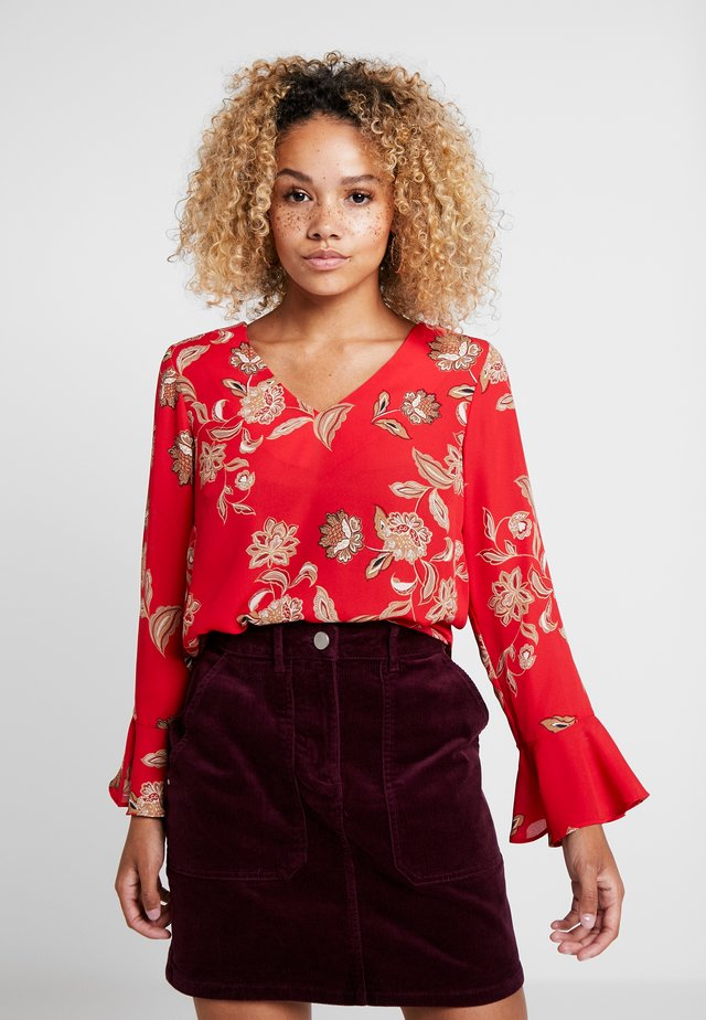 FLORAL PAISLEY TWINKLE - Blouse - red