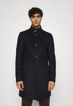 SOLID STAND UP COLLAR COAT - Classic coat - blue