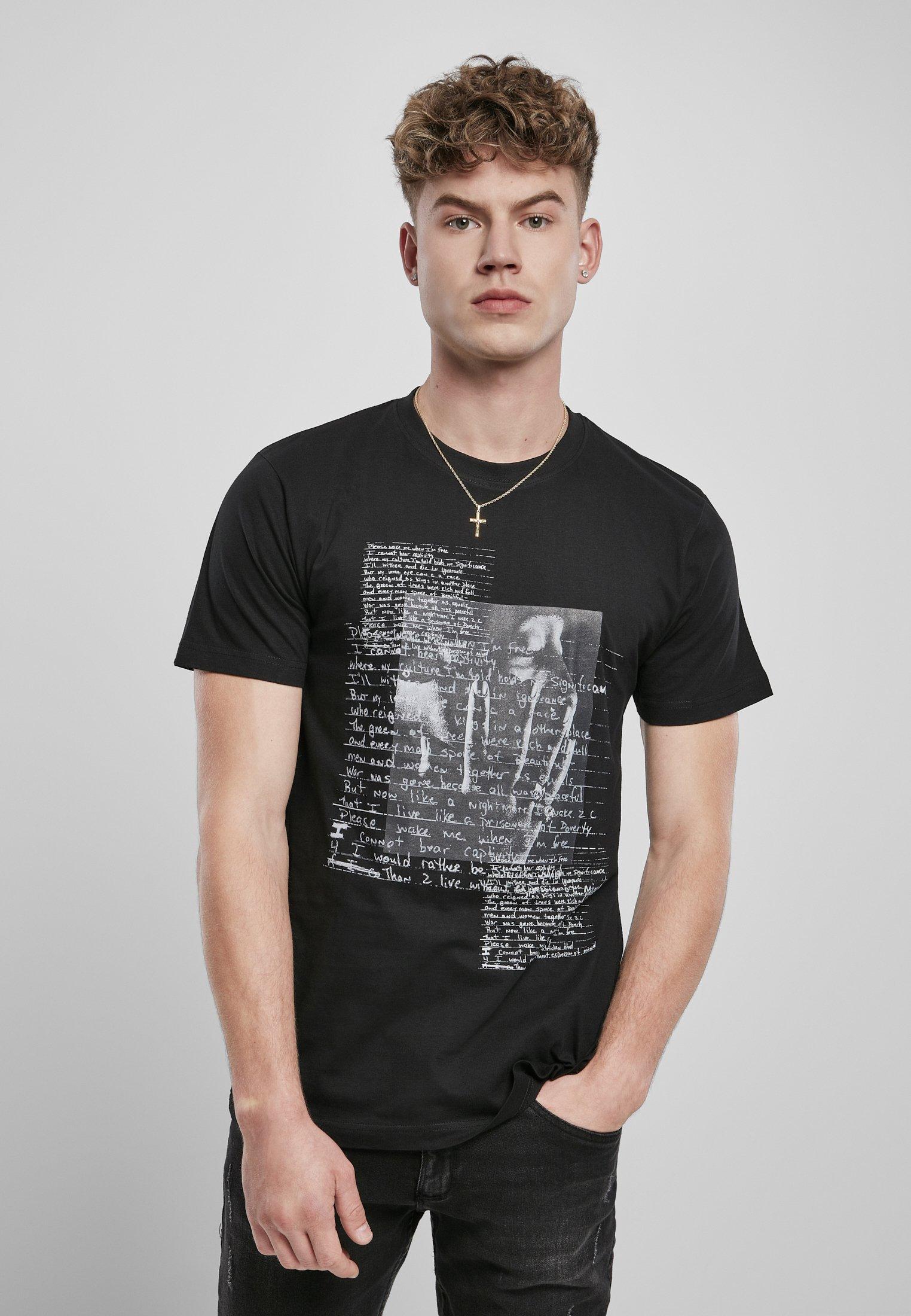 Homme TUPAC LYRICS - T-shirt imprimé