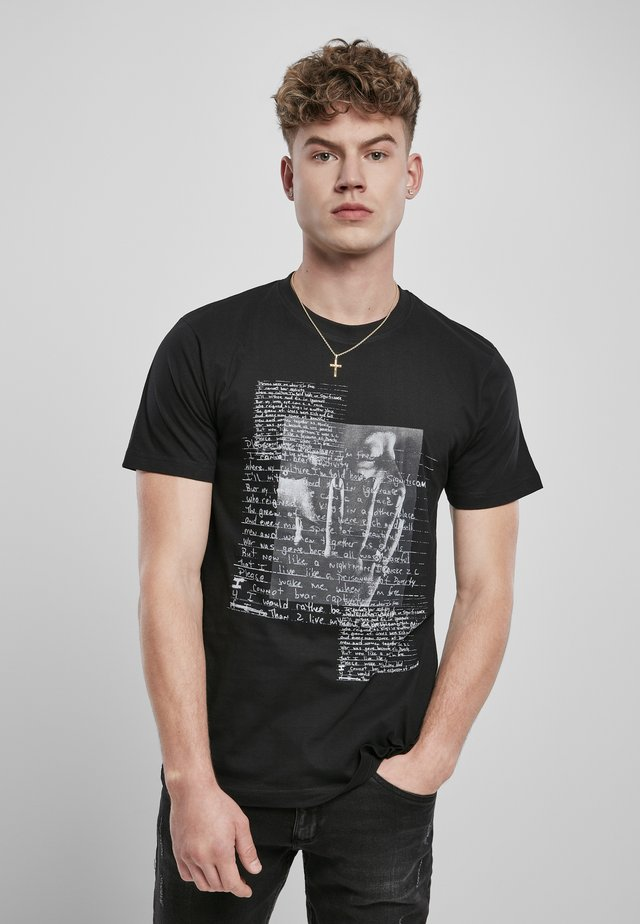 TUPAC LYRICS - T-shirt print - black