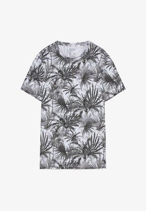 MIT RUNDAUSSCHNITT  - Print T-shirt - grey