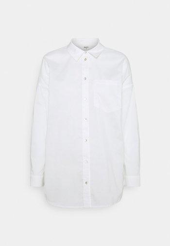OBJMACY - Button-down blouse - cloud dancer
