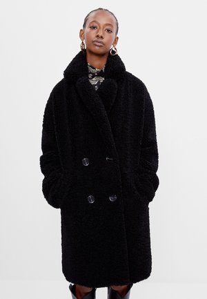 MIT LAMMFELLIMITAT - Winter coat - black