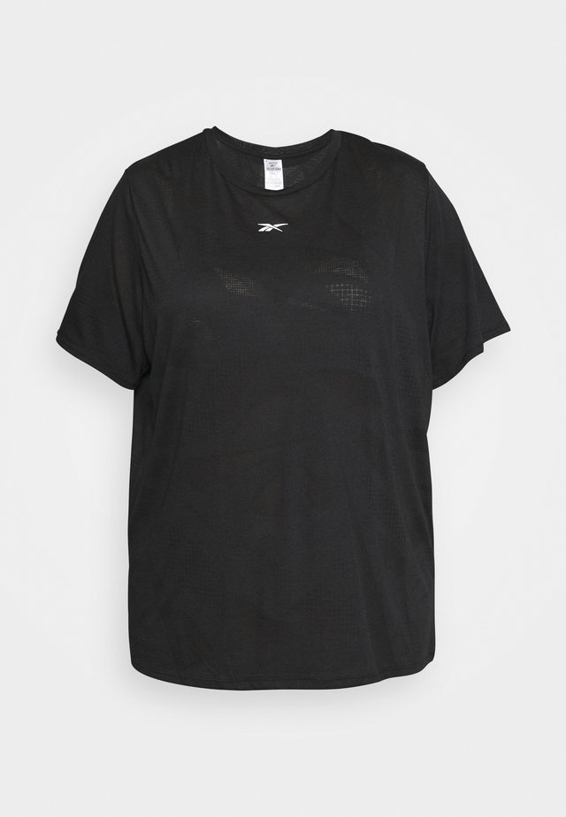 BURNOUT TEE IN - T-shirt con stampa - black