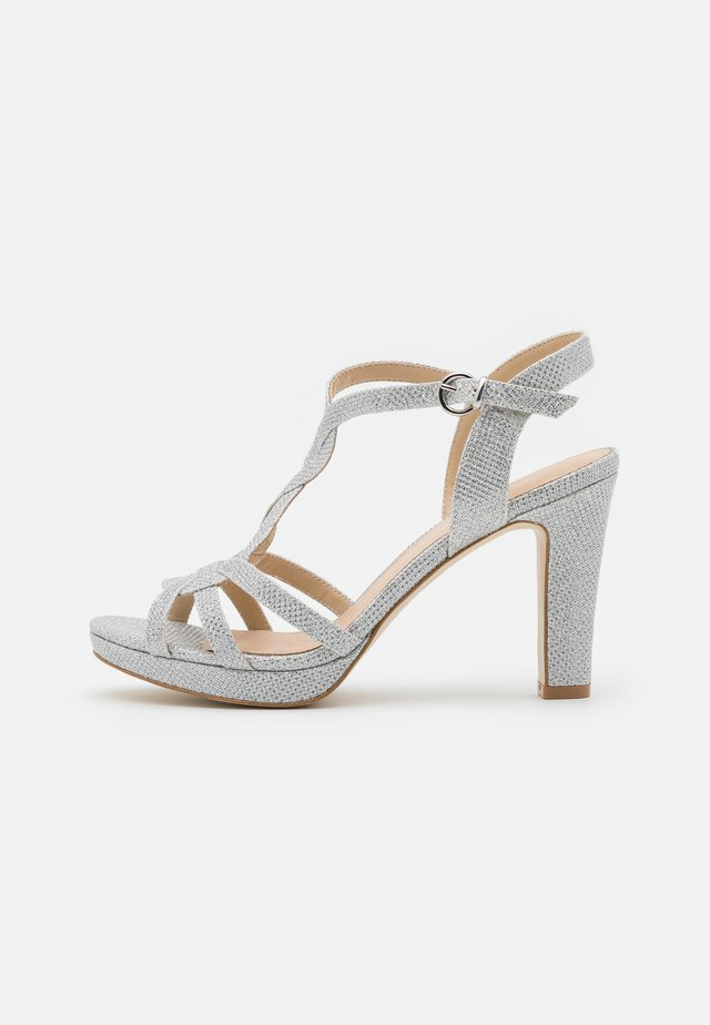 LEATHER - Sandalen met hoge hak - silver