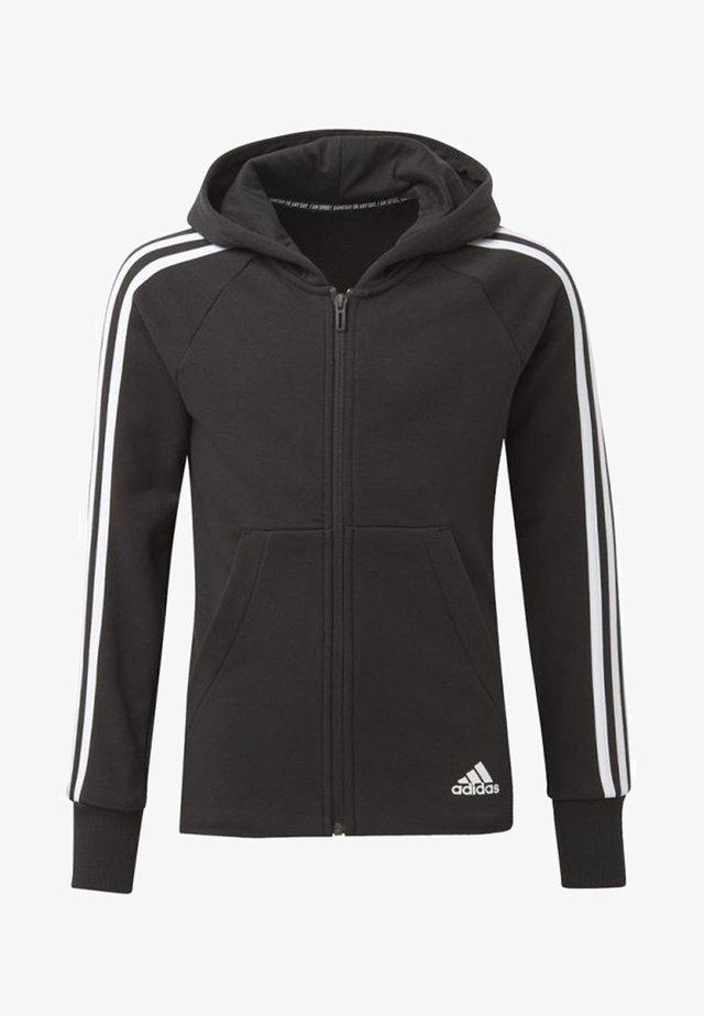 MUST HAVES 3-STRIPES HOODIE - Zip-up hoodie - black
