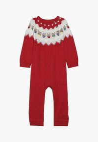mothercare - BABY FESTIVE FAIRISLE - Jumpsuit - red - 3