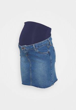MINI SKIRT - Minifalda - mid wash