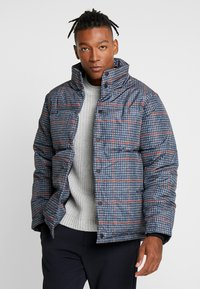 Topman - PLAID CHECK PUFFER - Winterjas - blue - 0