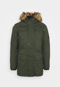 Winter coat - dark green melange