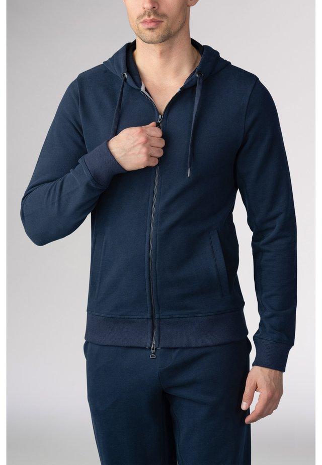 Zip-up hoodie - yacht blue