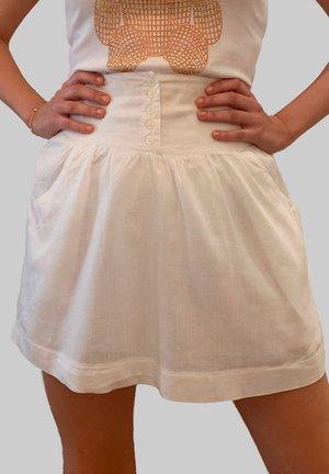 Falda acampanada - blanco