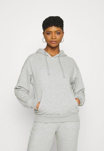 BASIC FRONT POCKET HOODIE - Sweatshirt - grey marl