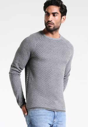 Strikpullover /Striktrøjer - mottled grey/anthracite