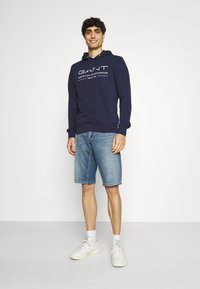 GANT - SUMMER HOODIE - Sweatshirt - classic blue - 1