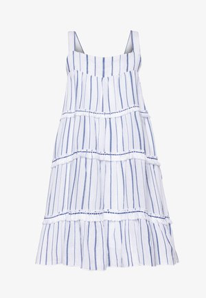 STRIPE FRINGED TIER DRESS - Day dress - blue