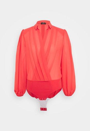 WOMEN'S BODY - Button-down blouse - amaranto
