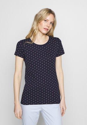FAV CREW - Print T-shirt - navy ditsy