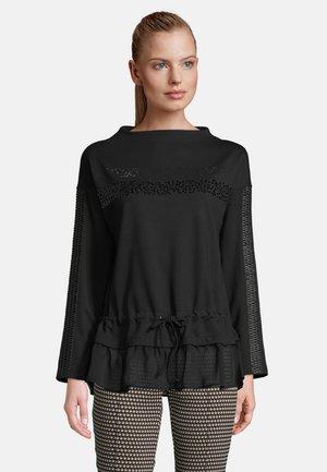 MIT TUNNELZUG - Sweatshirt - schwarz