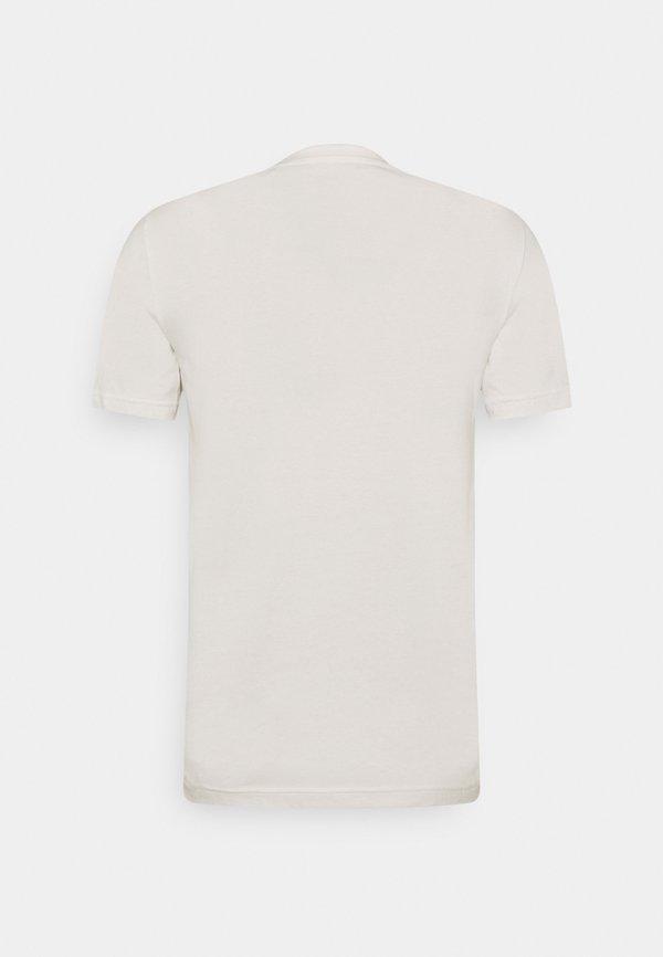 Mustang ALEX LOGO TEE - T-shirt z nadrukiem - cloud dancer/mleczny Odzież Męska CNHD