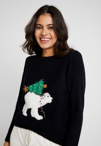 Dorothy Perkins - POLAR BEAR XMAS TREE - Jumper - navy - 3