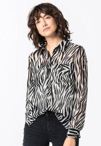 HALLHUBER - Button-down blouse - schwarz - 0