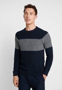 Pier One - Stickad tröja - dark blue - 0