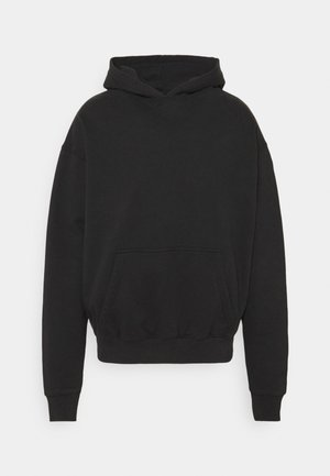 HEAVY OVERSIZED HOODIE UNISEX - Collegepaita - washed black