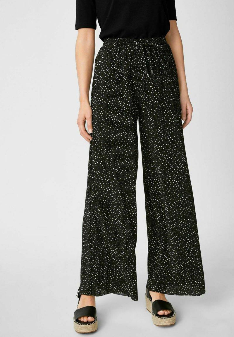 C&A - Trousers - black / white