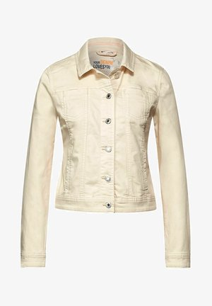 Denim jacket - mottled beige