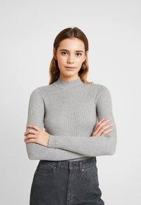 Even&Odd - Stickad tröja - grey - 0