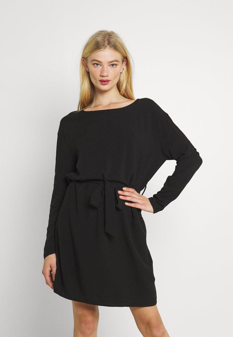 Vila - VISAY TIE BELT DRESS - Day dress - black