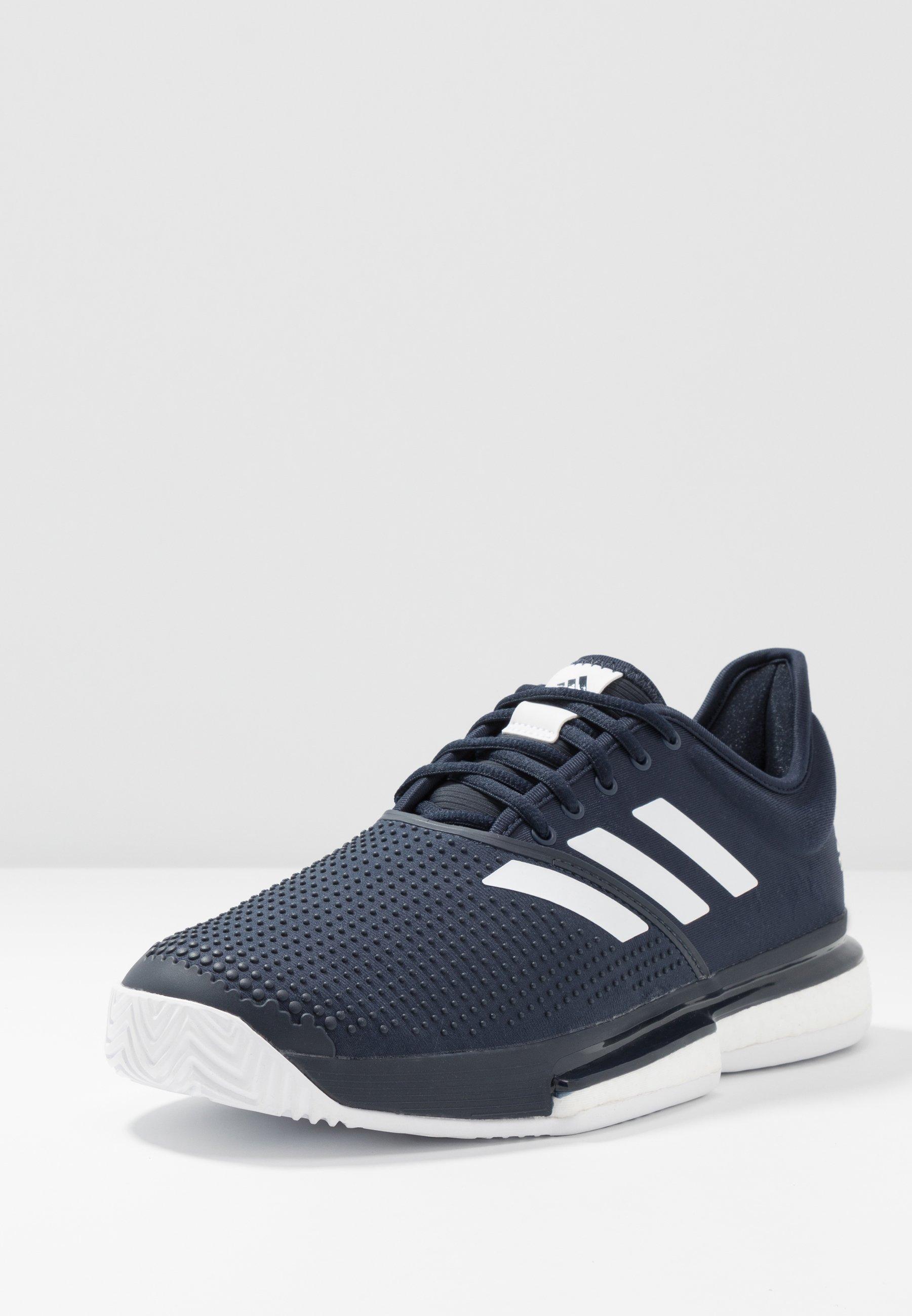 Precio Asombroso Calzado de hombre adidas Performance SOLECOURT BOOST Zapatillas de tenis para tierra batida legend ink/footwear white AUywAE