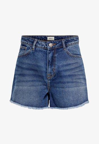 ONLKELLY - Denim shorts - dark blue denim