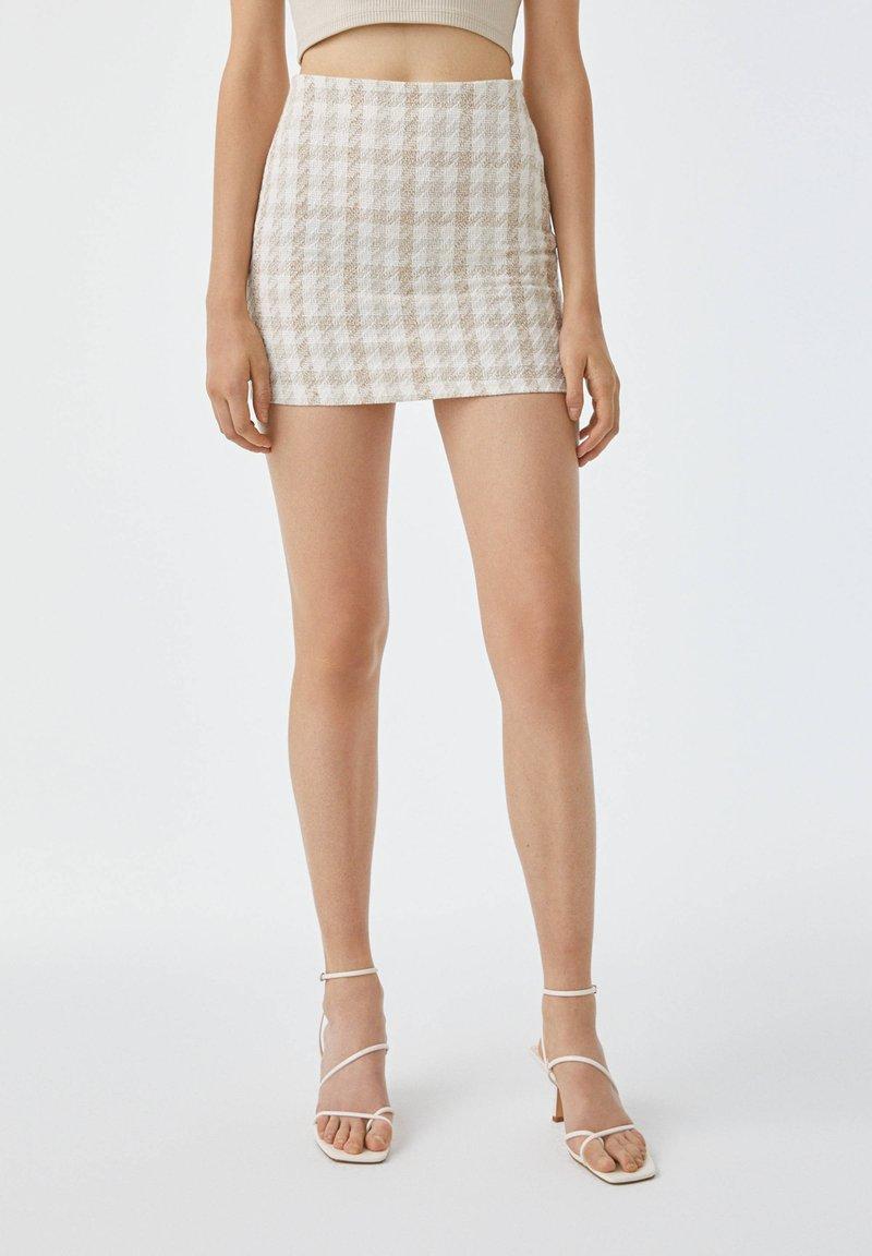 PULL&BEAR - Mini skirt - sand