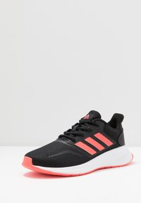 adidas Performance - RUNFALCON UNISEX - Neutral running shoes - core black/signal pink/footwear white - 2