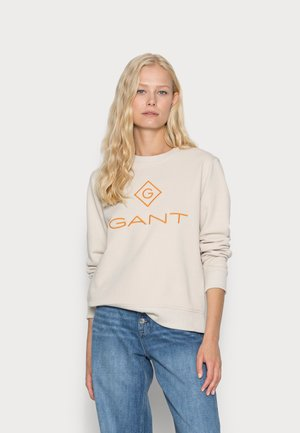 COLOR LOCK UP NECK  - Mikina - sand