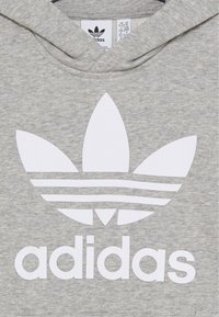 adidas Originals - TREFOIL HOODIE - Mikina s kapucí - medium grey heather/white - 2