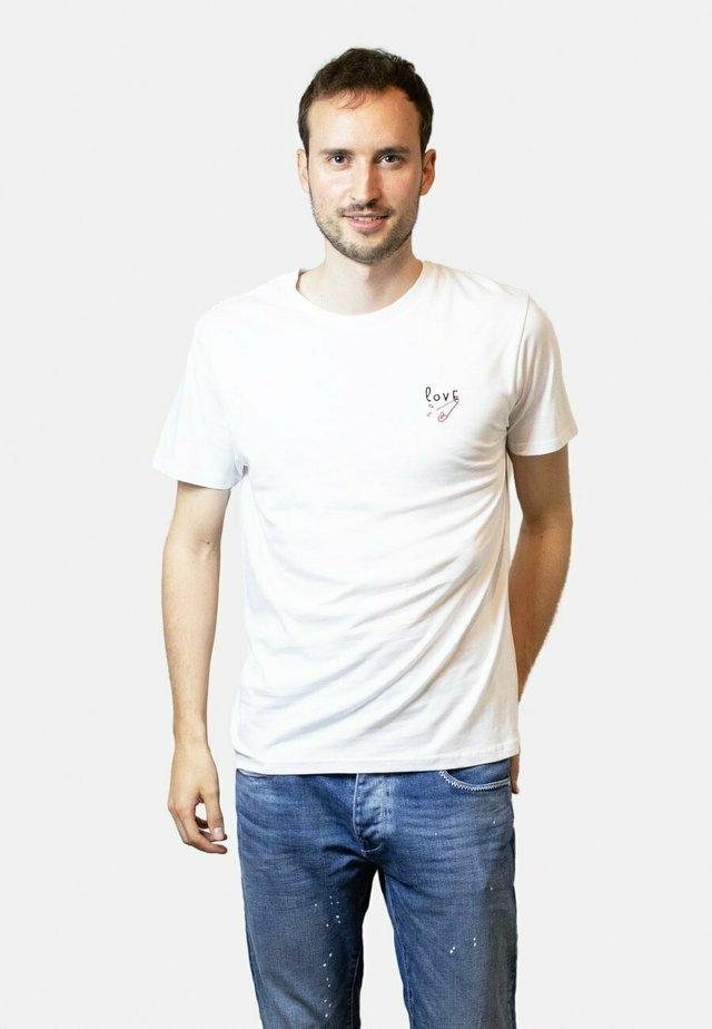LOVE  - T-shirt basic - white