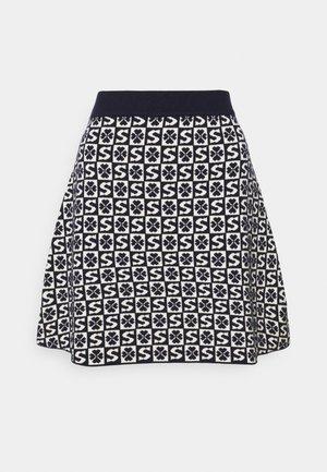 Mini skirt - marine/blanc