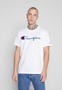 Champion Reverse Weave - Triko spotiskem - white - 0