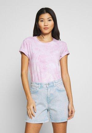 Print T-shirt - blurred berry
